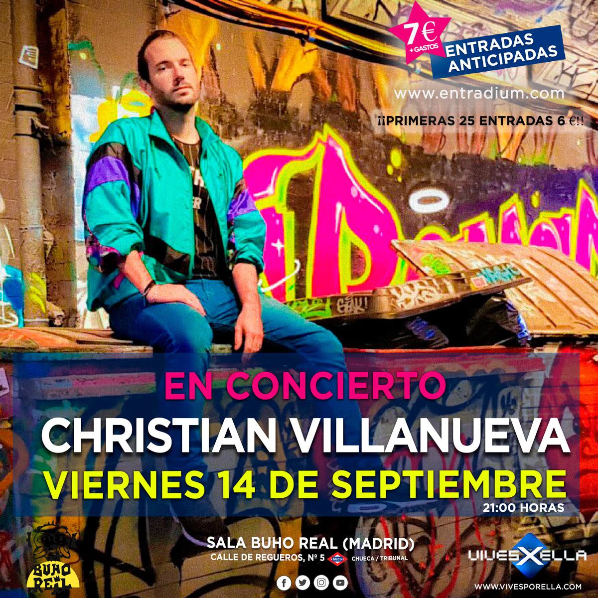 Cristian Villanueva en concierto