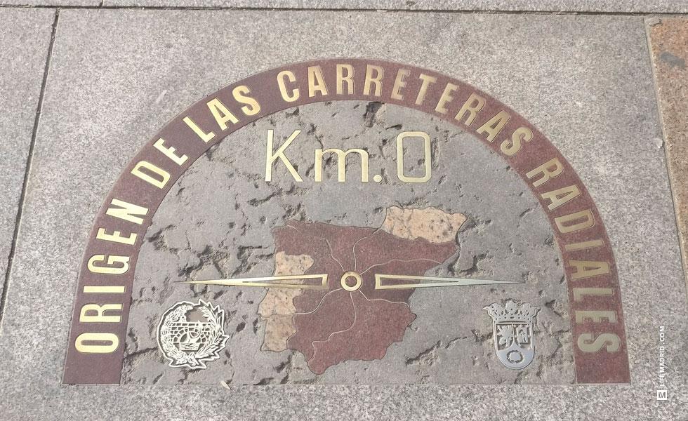 Kilometro 0, origen de las carreteras radiales de España