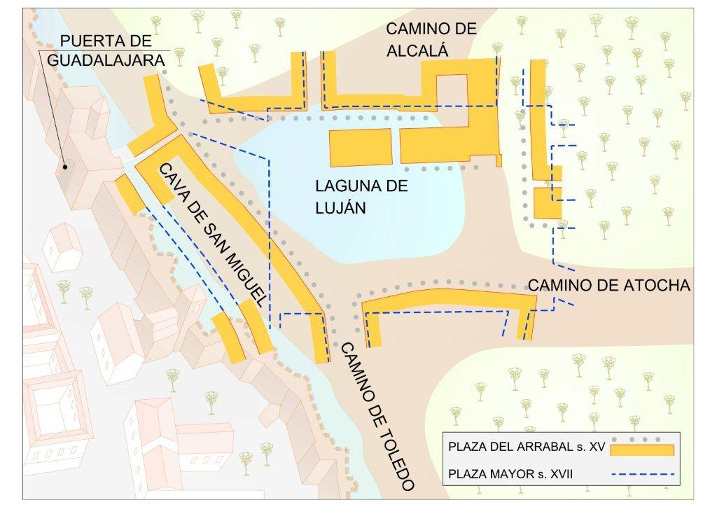 Mapa Plaza Mayor en el siglo XV